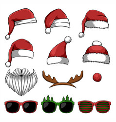 Christmas accessories vector