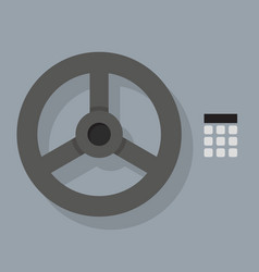 closeup bank vault safe door vector image