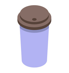 Coffee to go cup icon isometric style vector