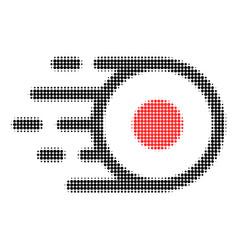 Core flight halftone dotted icon vector