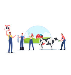 Eco farming and sustainable organic agriculture vector