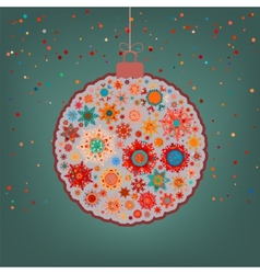 Fancy multicolor Christmas ball EPS 8 vector