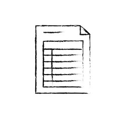 figure business information document paper data vector image