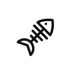 fish bones icon vector image