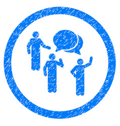 Forum persons rounded grainy icon vector