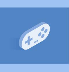 gamepad isometric icon vector image