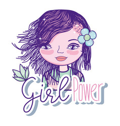 girl power cartoon vector image