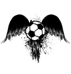 grunge football with wings vector image