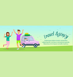 happy mother father and kids characters vacation vector image