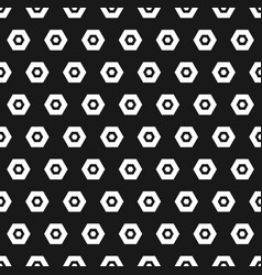 hexagon black and white seamless pattern abstract vector image