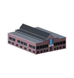 isolated school building vector image