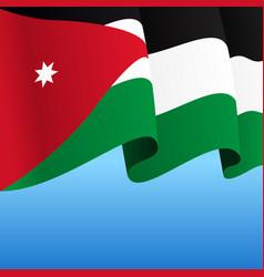 Jordanian flag wavy abstract background vector