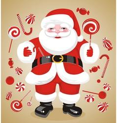jovial santa claus vector image