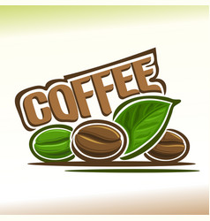 Logo for coffee vector