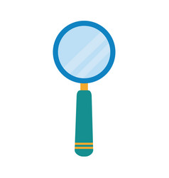magnifying glass researching home education flat vector image