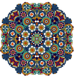 Mandala style floral decorative element vector