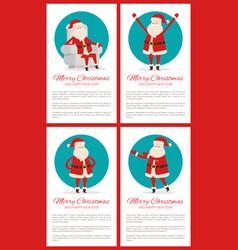 merry christmas winking santa vector image