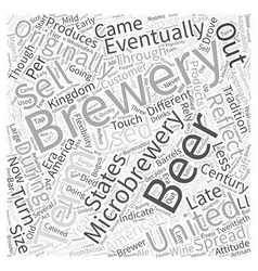 Microbrewery And America Word Cloud Concept vector image