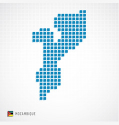 mozambique map and flag icon vector image