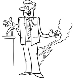 Pants on fire saying coloring page vector