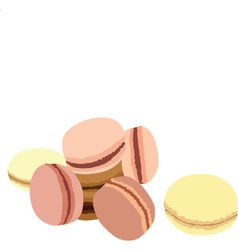 Pastel macaroons vector image vector image