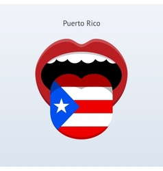 Puerto Rico language Abstract human tongue vector
