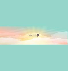 realistic turquoise-yellow sky vector image