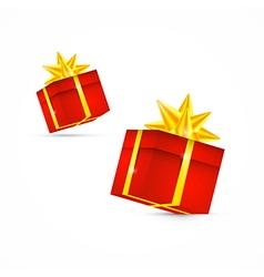 Red present box gift box set vector