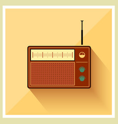 Retro Background Radio Receiver Tuner vector image
