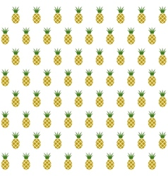 Sample seamless pineapple fruits background vector