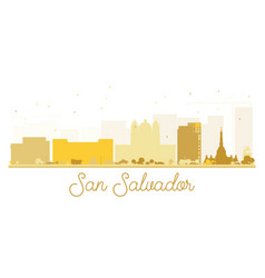 San salvador city skyline golden silhouette vector