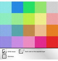 Set of twenty colorful seamless textures vector image
