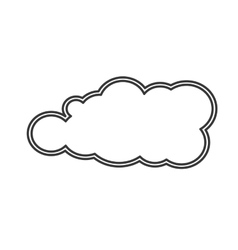 single cloud shape icon vector image