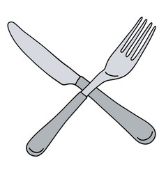 Stainless steel cutlery vector