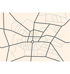 Streets on the city map - scheme vector