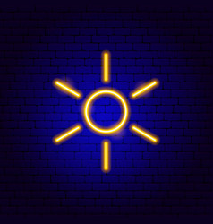 sun weather neon sign vector image