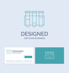 test tube science laboratory blood business logo vector image