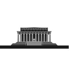 the lincoln memorial vector image
