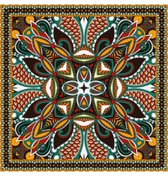 Traditional ornamental floral paisley bandanna You vector