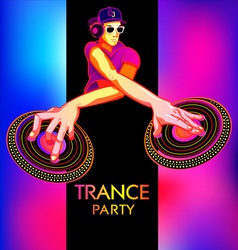 Trance party dj vector