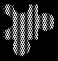 White pixel plugin icon vector