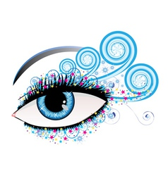 Winter eye vector image