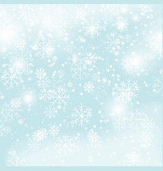 winter snowflakes pattern christmas snow on blue vector image