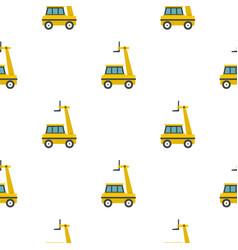 yellow cherry picker pattern flat vector image