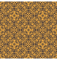 Yellow floral seamless wallpaper pattern vector image
