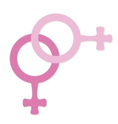 female icon lesbian vector image vector image