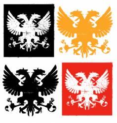 heraldry eagle vector image