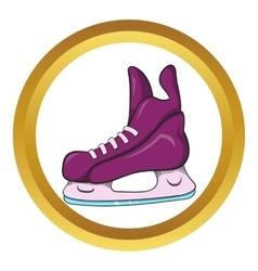 Ice hockey skates icon cartoon style vector image