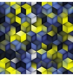 Seamless Multicolor Blue Yellow Gradient vector image