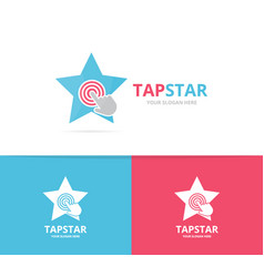 star and click logo combination leader and vector image